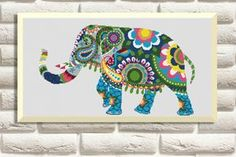 Ethnic Elephant - Cross Stitch