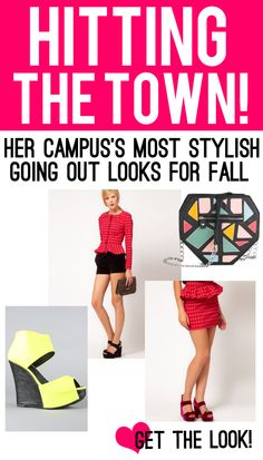 Be the most stylish collegiette this fall and hit the town with one of these looks... Click to find out more!