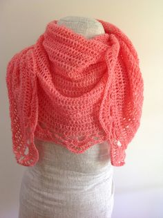 Ravelry: Coral Lace Shawl pattern by Undeniable Glitter- Alyssa