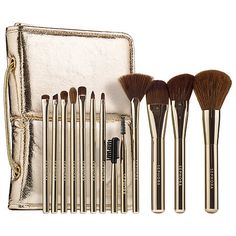 Shop SEPHORA COLLECTION's Stand Up and Shine Prestige Pro Brush Set at Sephora. It has 12 high-performance, PRO makeup brushes with a stand-up pouch.