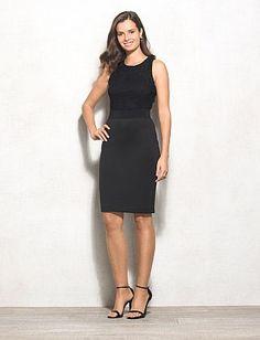 57c4bf4b457 BEYOND by Ashley Graham™ Lace Scuba Dress Misses Clothing