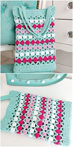 Crochet Fast And Easy Colorful Bag # crochet handbags easy Crochet Fast And Easy Colorful Bag - Crochet Ideas Crochet Cross, Crochet Yarn, Easy Crochet, Crochet Ideas, Crochet Projects, Free Crochet, Crochet Patterns, Crochet Handbags, Crochet Purses