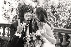 Celebrity Rocker Couple Photography: Marc Royce Photography Read More: http://www.insideweddings.com/weddings/courtney-bingham-and-nikki-sixx/573/