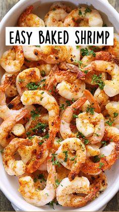 Shrimp Recipes For Dinner, Shrimp Recipes Easy, Seafood Dinner, Healthy Dinner Recipes, Keto Recipes, Vegetarian Recipes, Salmon Recipes, Recipes With Cooked Shrimp, Healthy Chicken Bake Recipes