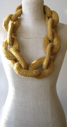 Knitting Pattern For Chain Link Scarf : 1000+ images about Knitted Chain / I-Cord Projects on Pinterest Wool yarn, ...