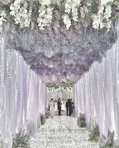 Mauve wedding theme.