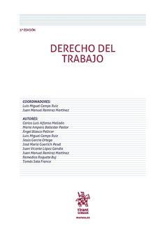 CAMPS RUIZ. Derecho del trabajo. Valencia: Tirant lo Blanch, 2016