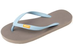 New OLLI Flip Flops For Women - Fair Trade Natural Rubber Sandals - Great As Beach Sandles, Yoga Fitness Shoes, Shower Slippers - Ultra Comfortable, Eco Friendly, Vegan - Iron/Caribbean Bay Blue online Shower Slippers, Rubber Flip Flops, Rubber Sandals, Ethical Shopping, Fair Trade Fashion, Workout Shoes, Flip Flop Shoes, Vegan Shoes, Womens Flip Flops