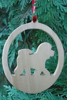 Bichon Frise Silhouette Ornament by PawPawsWorkshop on Etsy