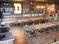 Dickey's Barbecue Gets a Hipster Makeover - Eater Dallas Wings Restaurant, Barbecue Restaurant, Restaurant Concept, Modern Restaurant, Restaurant Interior Design, Bbq Restaurants, Restaurant Layout, Texas Restaurant, Bbq Shop