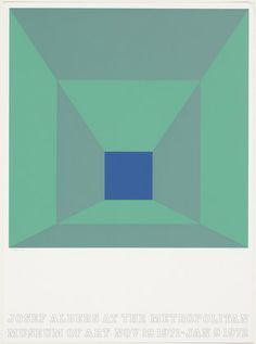 P. Blue - Josef Albers  The master of color theory!