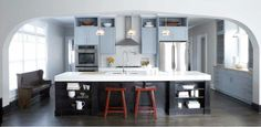 Knight Moves: Blue Kitchen Cabinets