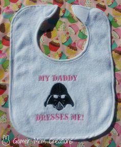 Star Wars Darth Vader Baby Bib by GamerMomCreations on Etsy, $6.20