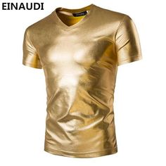 Check lastest price EINAUDI New T Shirt Men Tshirt Homme 2016 Night Club Fashion Shiny Golden Sliver V Neck T-shirt Slim Fit Short Sleeve shirts just only $9.74 with free shipping worldwide  #tshirtsformen Plese click on picture to see our special price for you