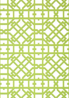 Turner #wallpaper in #green from the Geometric Resource 2 collection. #Thibaut
