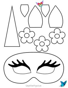 Unicorn Face Masks with FREE Printable Templates - Simple Mom Project Click on this post for DiY FREE printable unicorn mask templates. Watch your kids masquerade in their customized unicorn coloring page. They are terrific for birthday parties or a Halloween costume!<br> Check out this post for FREE printable Unicorn Face Mask templates! Comes with two cut-out templates AND coloring sheets for kids of all ages! Unicorn Printables, Printable Masks, Printable Crafts, Printable Templates, Free Printables, Templates Free, Printable Halloween Masks, Halloween Templates, Diy For Kids