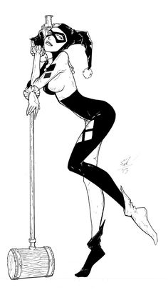 harley quinn with weapons drawings - Google Search
