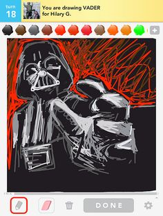 Draw something from Star Wars - I kinda don't even care about the star wars part of this. It's do awesome! Seriously! Who draws something that epic on Draw something!?! I'm in shock.