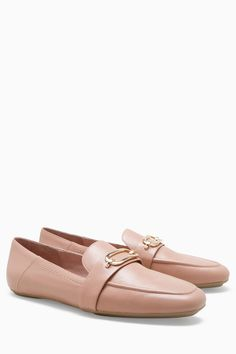 392cf67ec37 Buy Blush Forever Comfort Luxe Fit Hardware Loafers from the Next UK online  shop Leather Wedges