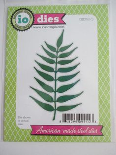 Impression Obsession craft die Large Leaf Stem fern leaves #impressionobsession