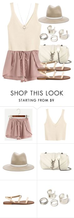 """""""Style  #10945"""" by vany-alvarado ❤ liked on Polyvore featuring WithChic, H&M, rag & bone, Yves Saint Laurent and FOSSIL"""