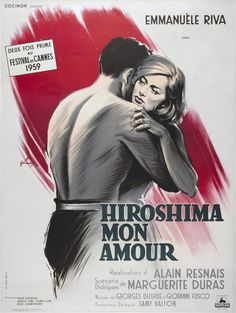"MP870. ""Hiroshima mon Amour"" French Movie Poster by Boris Grinsson (Alain Resnais 1959) / #Movieposter"