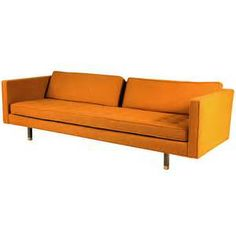Harvey Probber Sofa On Wood Legs With Br Sabots Danish Furniture Retro Mid