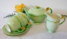 Carlton Ware, Tea Sets, Buttercup, Garland, Floral, Image, Ideas, Design, Florals