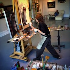 Daniel Sprick at his easel 2015. If there was one artist I could study with it would be him