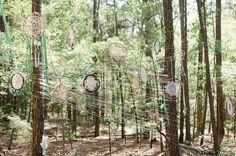 Bohemian Forest Wedding: Marisa + Jason via green wedding shoes, photo credit: Heather Hawkins