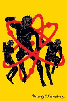 Luba Lukova - Chernobyl, Fukushima  http://www.extramoeniart.it/all-arount/luba-lukova-e-l-arte-del-poster-provocatorio