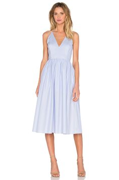 SAU Taylor Poplin Dress in Pale Blue Place to purchase at link