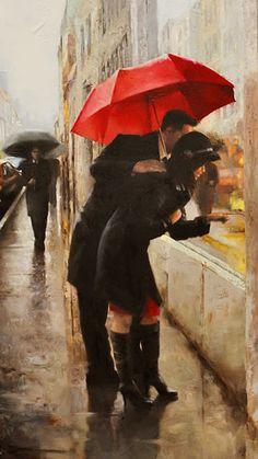 Daniel Del Orfano - Window Shopping Original Painting