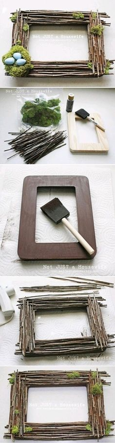 DIY Picture Frames diy crafts home made easy crafts craft idea crafts ideas diy ideas diy crafts diy idea do it yourself diy projects diy craft handmade diy picture frames fun crafts home crafts cheap crafts by iva