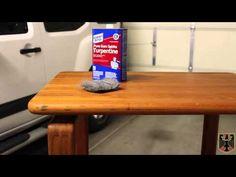 Restoring some Danish Solid Teak side tables.