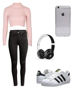 """""""Untitled #80"""" by mariana-martins-ii on Polyvore featuring Topshop, H&M, Beats by Dr. Dre and adidas Originals"""