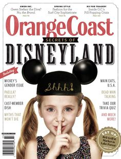 Orange Coast magazine // Cover // March 2013 // Disneyland // typography