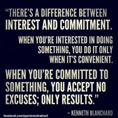 The difference between interest and commitment