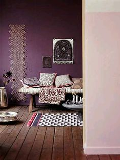 Ideas on purple wall