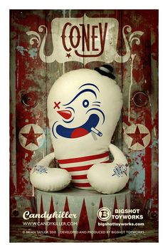 Coney Plush Poster. Brian Taylor. Candykiller.