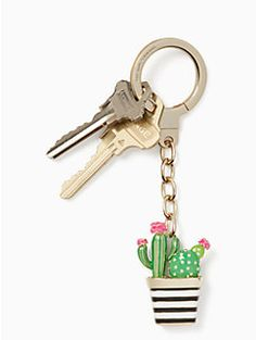 jeweled cactus keyfob by kate spade new york