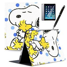 LJX iPad Generation 2019 Case Snoopy Cute Cartoon Cover PU Leather Stand Protection Smart Auto Sleep/Wake Shell Compatible for Apple iPad inch 2019 Ipad Tablet, Ipad Case, Smart Auto, Snoopy, Bow Flats, New Ipad, Book Cover Design, Apple Ipad, Cute Cartoon