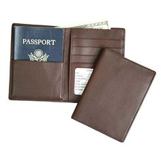 Card & Id Holders Usa Double-headed Eagle Convenient Pink Pu Leather Passport Holder Built In Rfid Blocking Protect Personal Information Clients First