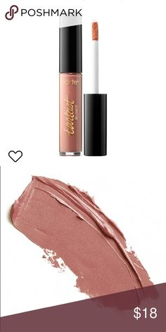 tarteist Creamy Matte Lip Paint — NAMASTE New in package. Selling because I own too many nudes. This is a versatile shade, can be worn alone or used as ombré. For all my neutral lovin sisters out there!   #'s matte cream creamy soft nudes neutrals naked buff beige brown tan pale medium fair fashion runway cruelty free tarte pro artistry minimal chic classic concealer lips tarte Makeup Lipstick