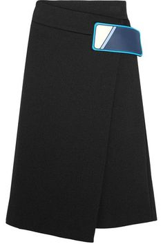 Prada - Stretch Cotton-blend Wrap Skirt - Black - IT44