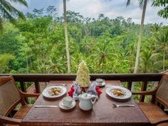 Kampung Cafe At The Kampung Resort Ubud - The Bali Bible Ubud Hotels, Forest View, Romantic Places, Bali, Traveling By Yourself, Table Settings, Amazing, Outdoor Decor, Taste Buds