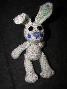 Smidgens Dog, Cat & Bunny - $3.98 (3 patterns in 1) by Deb Richey of Crafty Deb | Bunny Rabbits Part 1 - Animal Crochet Pattern Round Up - Rebeckah's Treasures