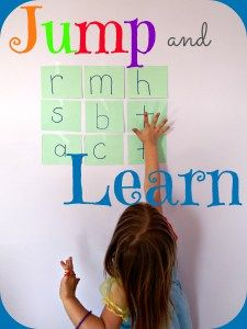 Jump and Learn – Kids Play Smarter Add a multi-sensory approach to learning with this jump and learn game! Teach letters, numbers, shapes, colors, or spelling words with this whole body learning activity. Gross Motor Activities, Spelling Activities, Movement Activities, Alphabet Activities, Sensory Activities, Reading Activities, Kindergarten Activities, Preschool Alphabet, Music Activities