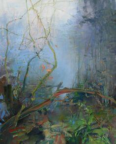 Toward a Clearing  oil on canvas 30x22  Randall David Tipton