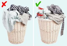 Marking Stained Clothes Clearly - These 11 Tips for Washing Clothes . Mark stained clothing clearly – these 11 tips for washing clothes make your work a lot easier! Bathroom Towels, Washing Clothes, Helpful Hints, Handy Tips, Routine, Laundry, Basket, Make It Yourself, Perie